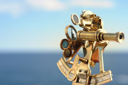 A sextant represents business strategy services that are always on the lookout for new opportunities